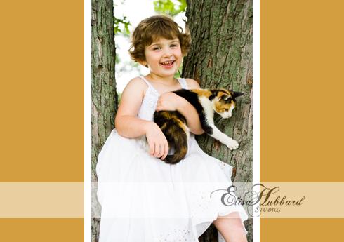 Kady, 4 Years, Girl, Farm, Cat, Mud Puddle, Child Photography, Pet Photography, Elisa Hubbard Studios