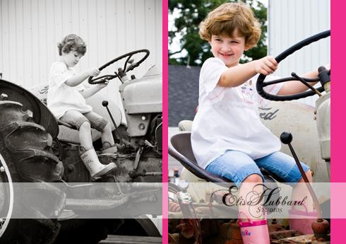 Kady, 4 Years, Girl, Farm, Tractor, Child Photography, Pet Photography, Elisa Hubbard Studios