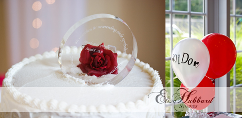 Christopher & Amanda, August Wedding, Cake, Balloons, Wedding Photography, Elisa Hubbard Studios