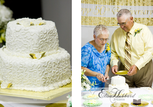 Earl & Carolyn, August Anniversary, Golden Anniversary, Cutting the Cake, Couples Photography, Elisa Hubbard Studios