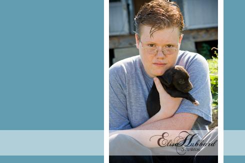 Christopher, 2010 Senior, Richmond, Puppy, Senior Portraits, Senior Photography, Elisa Hubbard Studios