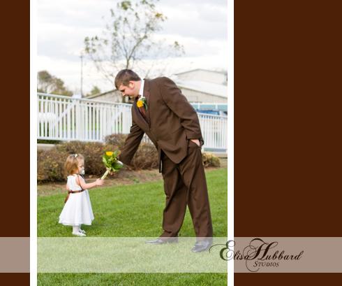 Jayme & Tim, October Wedding, Sweetest Day, Groom & Flower Girl, Bouquet, Wedding Photography, Elisa Hubbard Studios