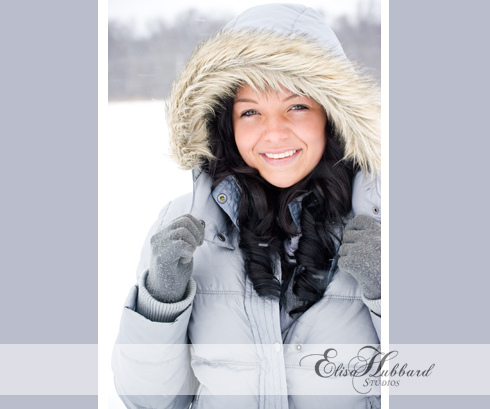 Rachel, 2011 Senior, Union County High School, UCHS, Liberty, Farm, Snow, Winter, Senior Photography, Elisa Hubbard Studios