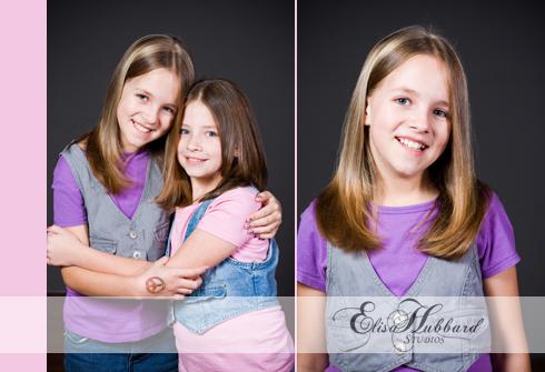 Savanna, Hanna & Savanna, Sisters, Children, Head Shot, Studio, Portrait Photography, Children's Photography, Elisa Hubbard Studios