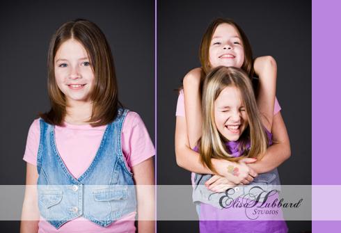 Hanna, Hanna & Savanna, Sisters, Children, Head Shot, Studio, Portrait Photography, Child Photography, Elisa Hubbard Studios
