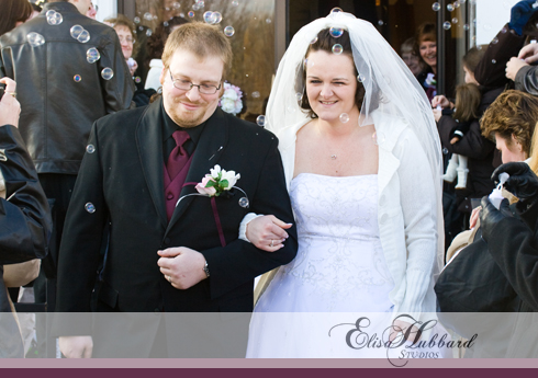 Billy & Hannah, February Wedding, Winter Wedding, Brownsville Wedding, Methodist Church, Bubbles, Wedding Photography, Elisa Hubbard Studios