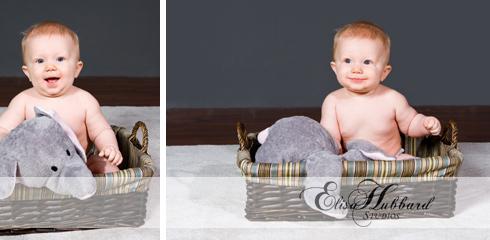Rhett, Baby Boy, 6 Months, Chunky Baby, Studio Photography, Child Photography, Baby Photography, Elisa Hubbard Studios
