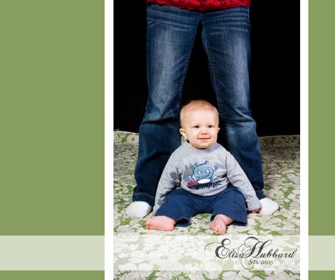 Rhett, Baby Boy, 6 Months, Chunky Baby, Mom's Feet, Studio Photography, Child Photography, Baby Photography, Family Photography, Elisa Hubbard Studios