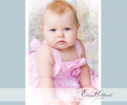 Chloe, 7 Months, Studio, Baby Girl, Baby Photography, Child Photography, Elisa Hubbard Studios