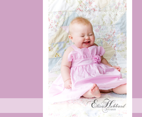 Chloe, 7 Months, Studio, Baby Girl, Giggling, Baby Photography, Child Photography, Elisa Hubbard Studios