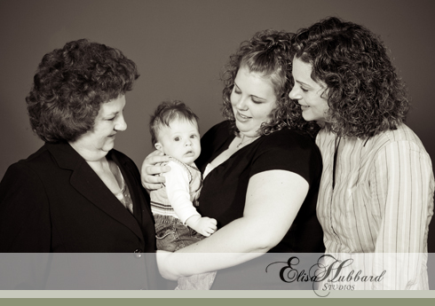 4 Generations, studio, Baby Photography, Family Photography, Elisa Hubbard Studios