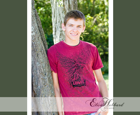 Brad, UCHS Senior, Liberty, Indiana Senior, Union County, On Location, Union County School Grounds, Senior Photography, Elisa Hubbard Studios