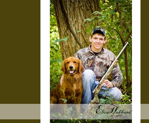 Brad, UCHS Senior, Liberty, Indiana Senior, Union County, On Location, Hunting, Dog, Senior Photography, Elisa Hubbard Studios