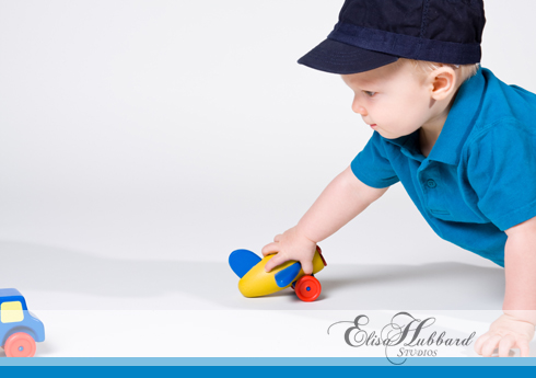 Rhett, 1 year, studio, child photography, portrait photography, Elisa Hubbard Studios