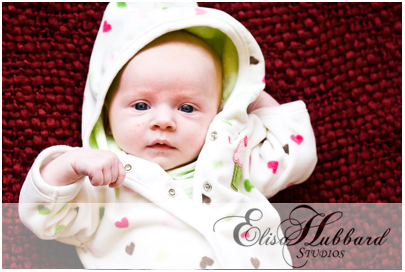 Danika, 1 Month - Newborn Baby Photography - Elisa Hubbard Studios