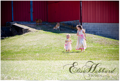 Girls Running - Child Photography - Elisa Hubbard Studios