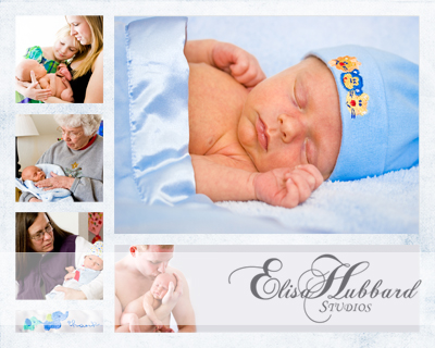 Baby Jackson & Family Collage - Newborn Family Photography - Elisa Hubbard Studios