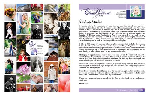 Welcome Letter - Business Flyer - Photo Collage - Elisa Hubbard Studios