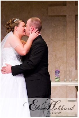You May Now Kiss The Bride - First Kiss - Tim & Amy - Wedding Photography - Elisa Hubbard Studios