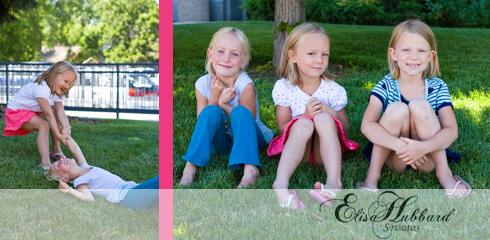 Liana Ava & Hannah, 5 Years, 7 Years, Cousins, Sisters, Child Photography, Family Photography, Elisa Hubbard Studios