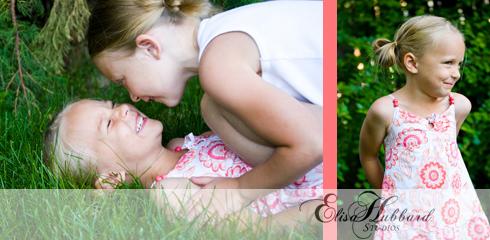 Ava & Hannah, 5 Years, 7 Years, Sisters, Child Photography, Family Photography, Elisa Hubbard Studios